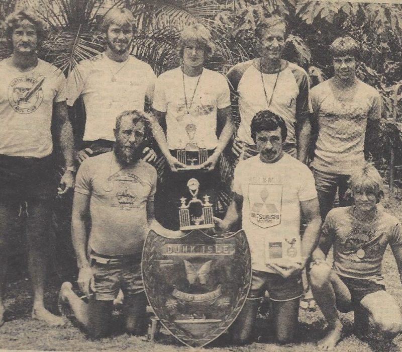 Back Row:  Greg Van Ryt, David Jaques, John Van Ryt, Jan Van Ryt, Adam Davies (Purkis)  Front Row: Ron Snow, Gary Pickering , Paul Van Ryt